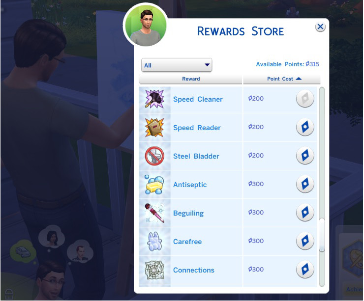 Mod mua Aspiration Rewards giá rẻ The Sims 4