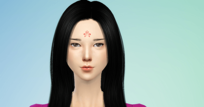 China bindi tattoo The Sims 4