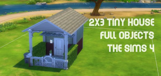 The Sims 4 House Building 2×3 Tiny house full objects